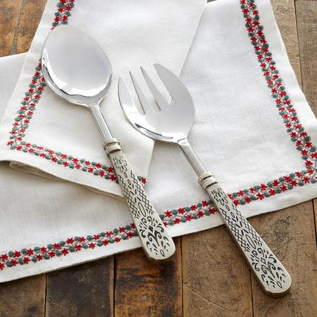 FLEUR DE LYS SERVING SET, 2-PIECE SET