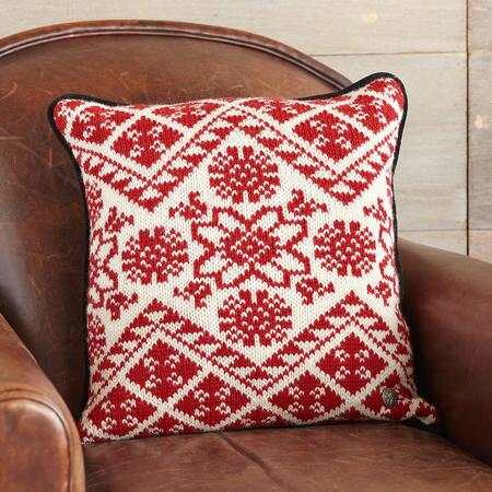 SCANDI SWEATER PILLOW RED & WHITE
