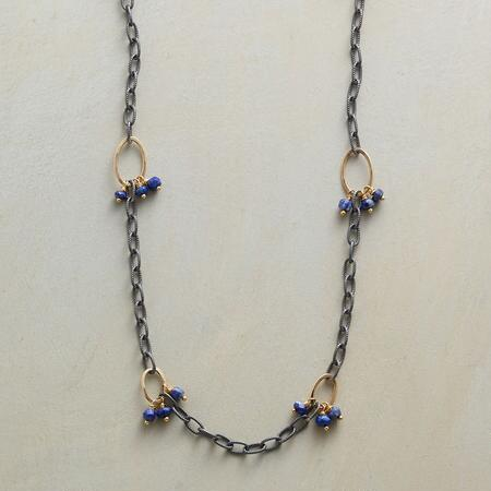 LAPIS TRIOS NECKLACE