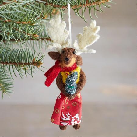 GLEEFUL JOLLY REINDEER ORNAMENT