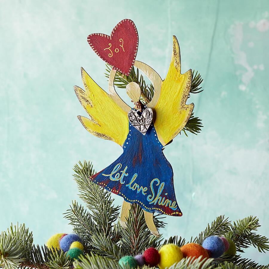 ANGEL OF JOY TREE TOPPER