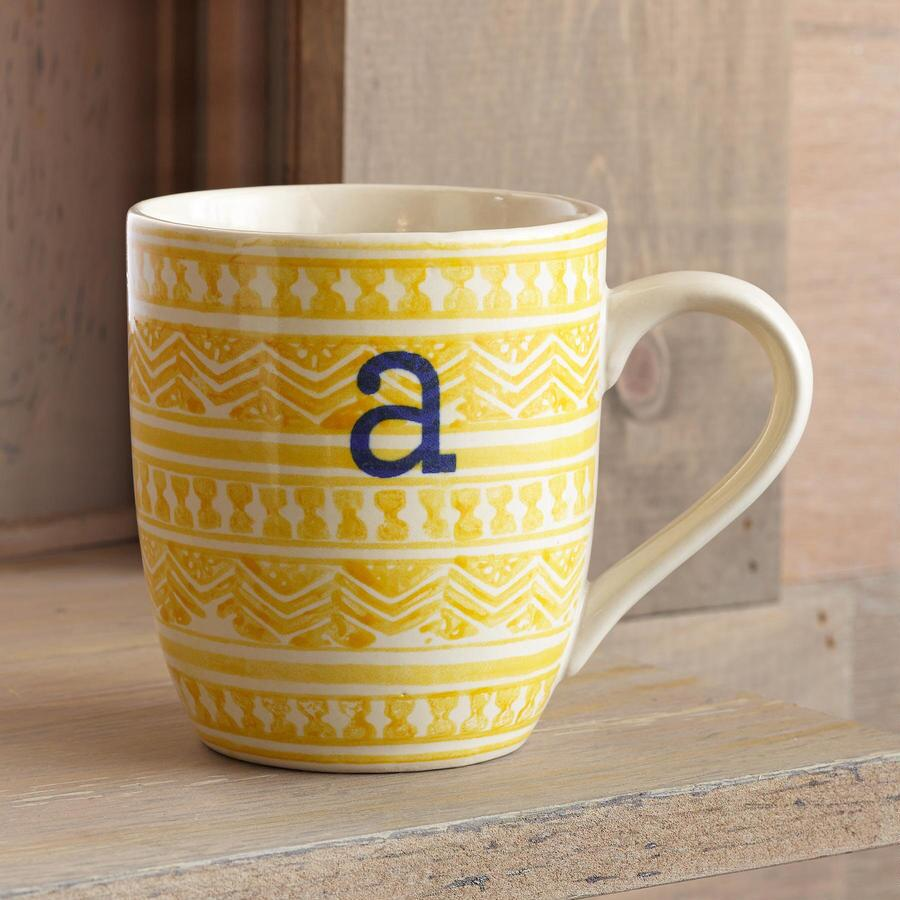 TO THE LETTER YELLOW MUGS