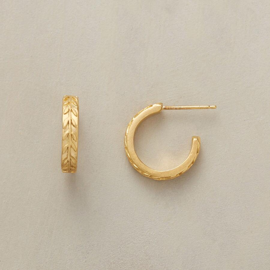 LAUREL WREATH HOOPS