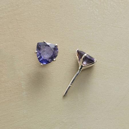 TRILLION IOLITE EARRINGS