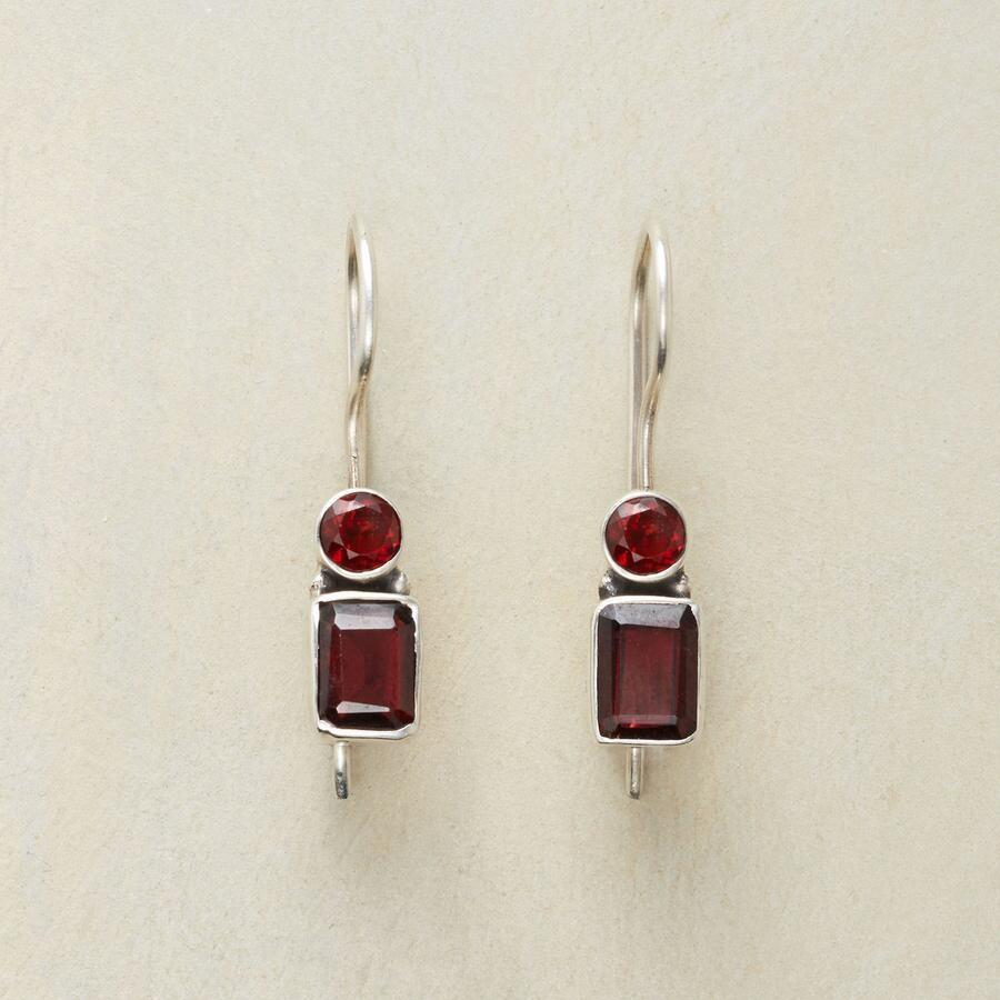 TWICE OVER GARNET EARRINGS