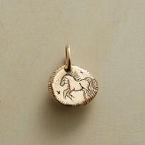 14KT GOLD COURAGE CHARM