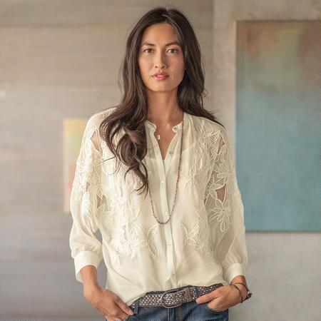 CLIMBING ORCHID BLOUSE-WITH CAMI