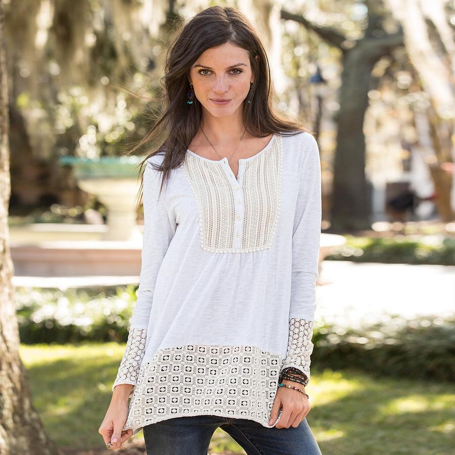 BEACON OF BEAUTY TUNIC-PETITE