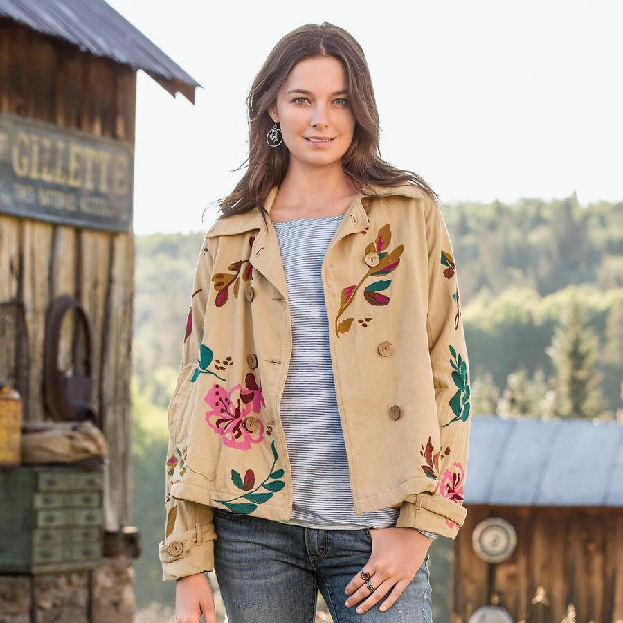 ARTISTS EMBROIDERED SWING JACKET