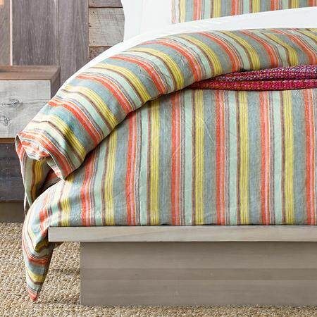 NEW WORLD STRIPE LINEN DUVET