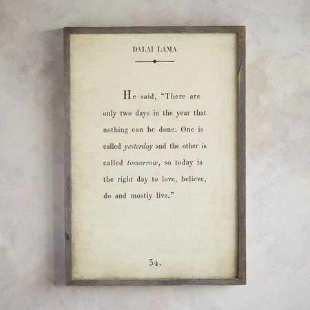 WORDS OF WISDOM PRINT BY THE DALAI LAMA
