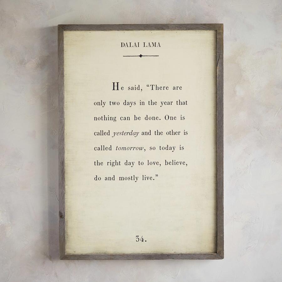 WORDS OF WISDOM PRINT BY THE DALAI LAMA