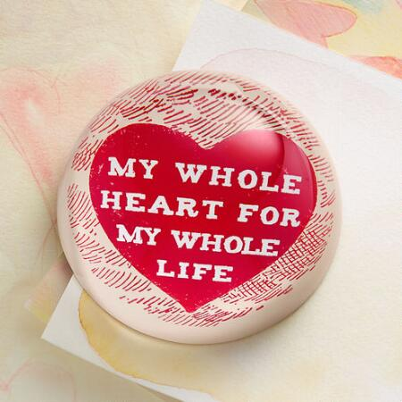 SS...LIFETIME OF LOVE PAPERWEIGHT