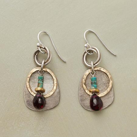 CIRCLES & STONES EARRINGS