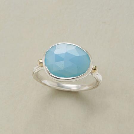 CHALCEDONY TWIGGY RING