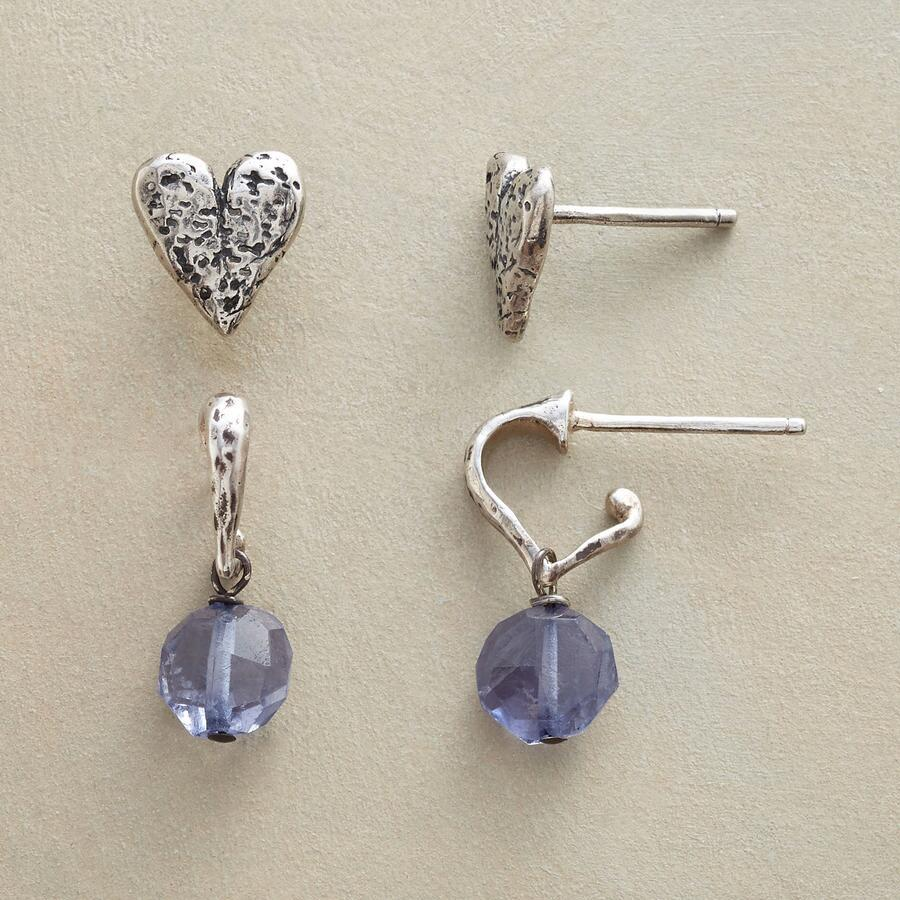 I HEART IOLITES EARRING DUO