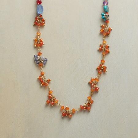 CARNELIAN CLUSTERS NECKLACE
