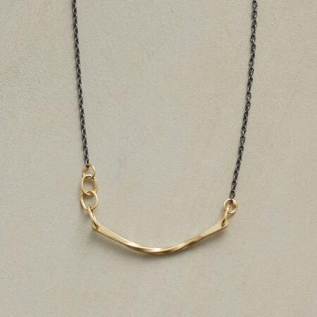 MIXED METAL SLING NECKLACE