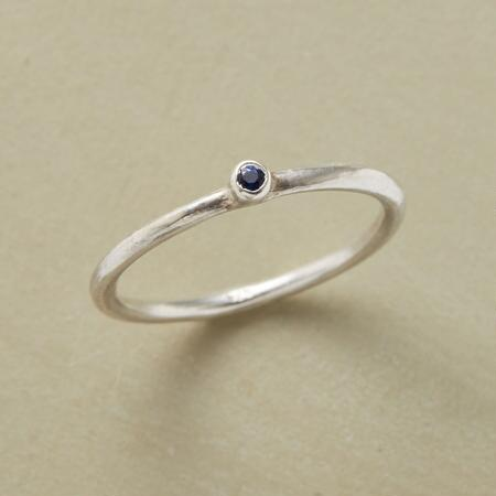SPARKLING SPECK OF BLUE RING