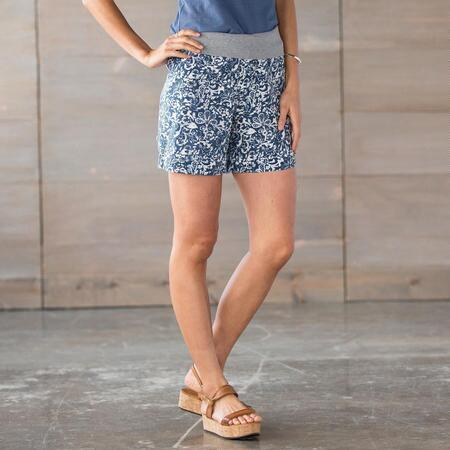 COOL N EASY ROLL TOP SHORTS-PRINT