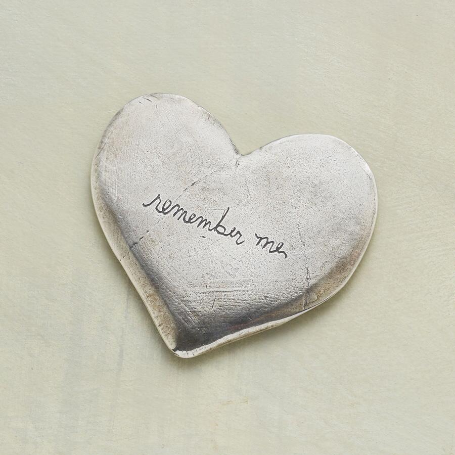 SILVER REMEMBER ME HEART