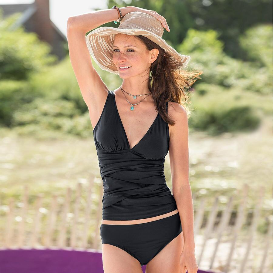 ECO RUCHED TANKINI TOP