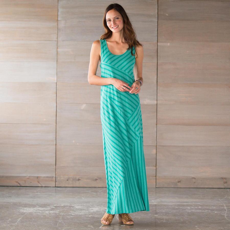 SIGNATURE STRIPES DRESS