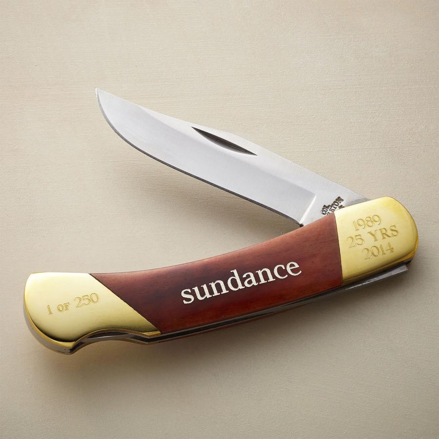 PERSONALIZED SUNDANCE 25TH ANNIVERSARY POCKETKNIFE