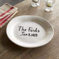STRENGTH AND GRACE PERSONALIZED SERVING PLATE
