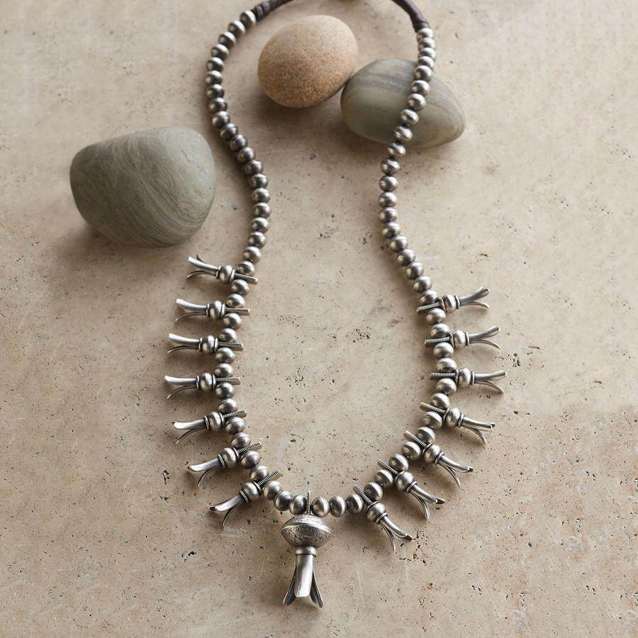 STERLING SQUASH BLOSSOM NECKLACE