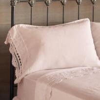 GOSSAMER LINEN CROCHET-EDGE PILLOWCASE