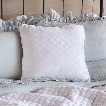 VELVETY QUILTED PILLOW