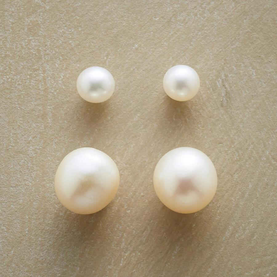 PEARL PAIR EARRINGS, Set Of 2
