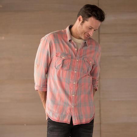 SUN WASHED PLAIDS SHIRT
