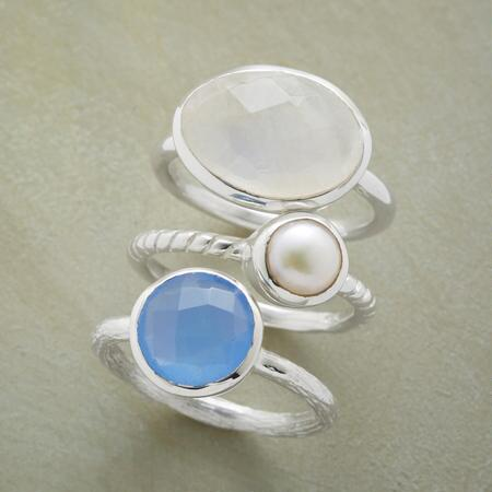 PEARL AND FRIENDS RINGS S/3