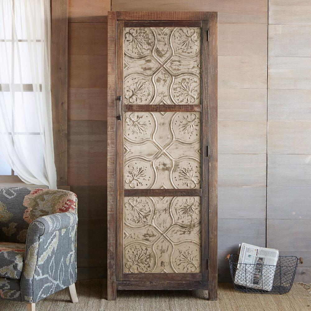 Step 1: Select a color ... - Tin & Reclaimed Wood Cabinet Robert Redford's Sundance Catalog