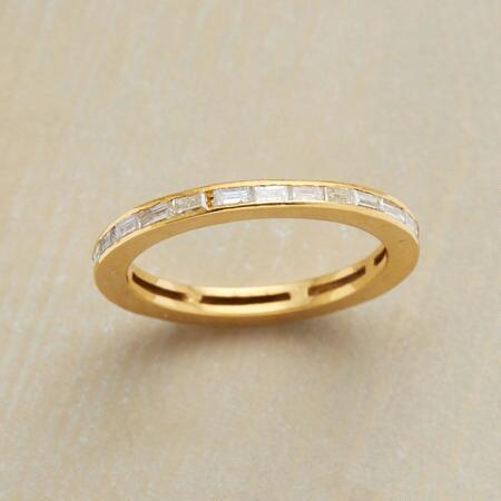 DIAMOND CIRCLE OF GEMSTONES RING