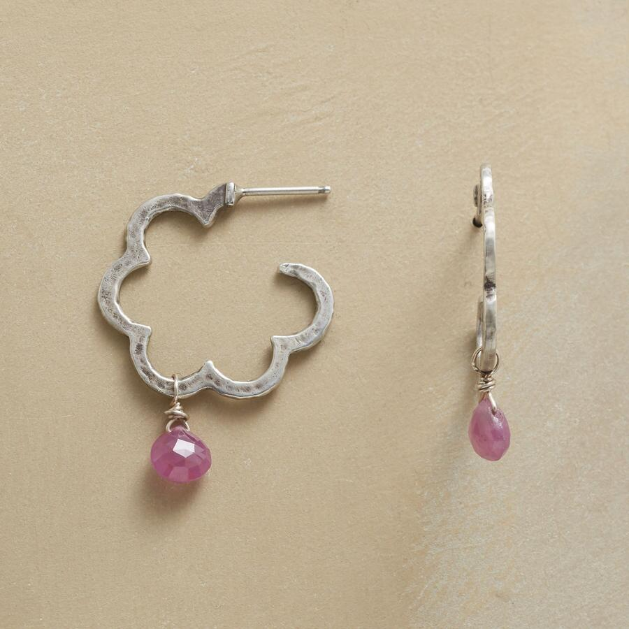 SCALLOPS AND SAPPHIRES HOOPS