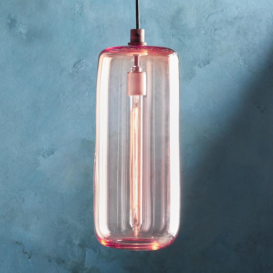 SALON GLASS CYLINDER PENDANT
