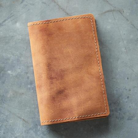 SMALL LEATHER FIELD NOTEBOOK