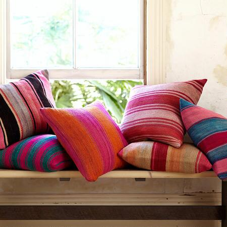 VINTAGE BOLIVIAN FRAZADA PILLOWS