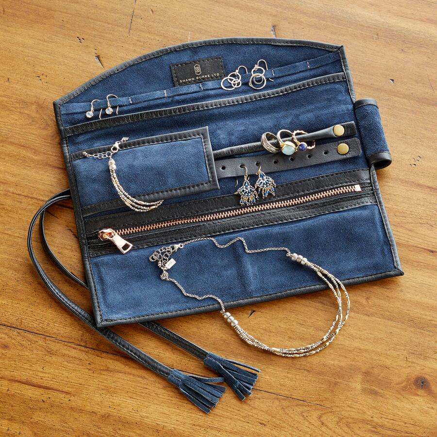 LUXE LEATHER JEWELRY ROLL