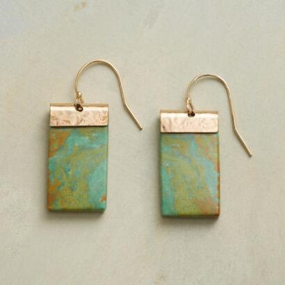 TURQUOISE TABLET EARRINGS
