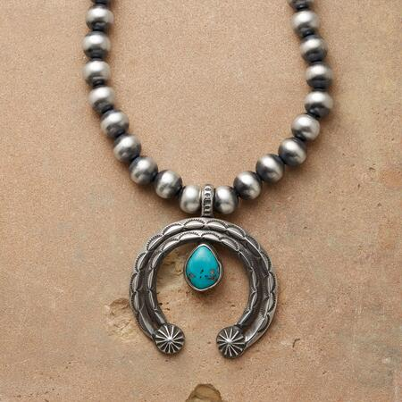 STERLING TEARDROP NAJA NECKLACE