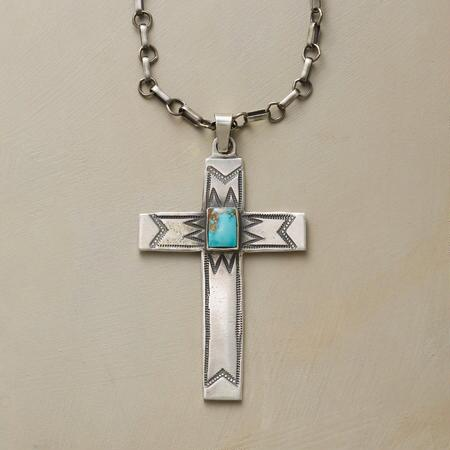 SOUTHWESTERN CROSS NECKLACE