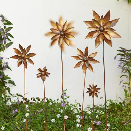 GARDEN BLOOMS PINWHEELS, SET OF 3