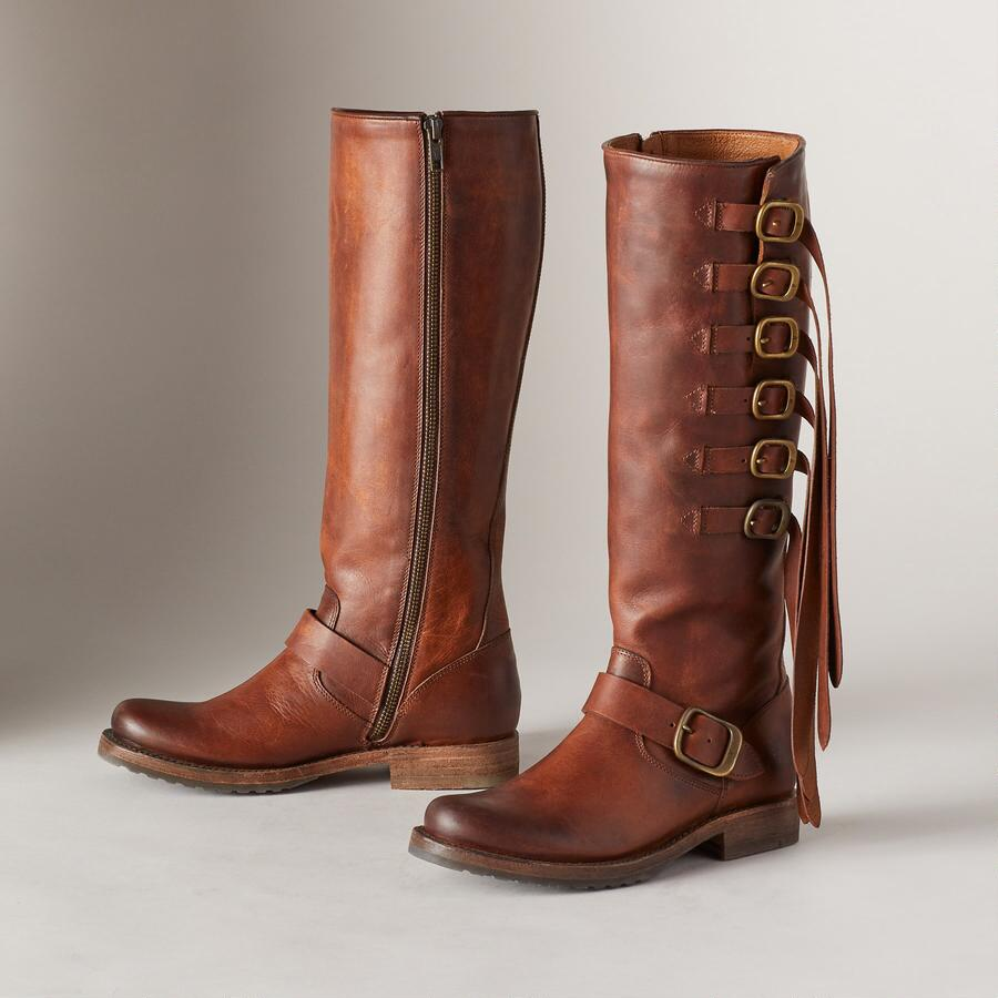 VERONICA STRAP TALL BOOTS