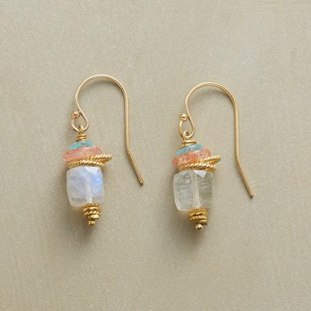 MOONSTONE SAUCER EARRINGS