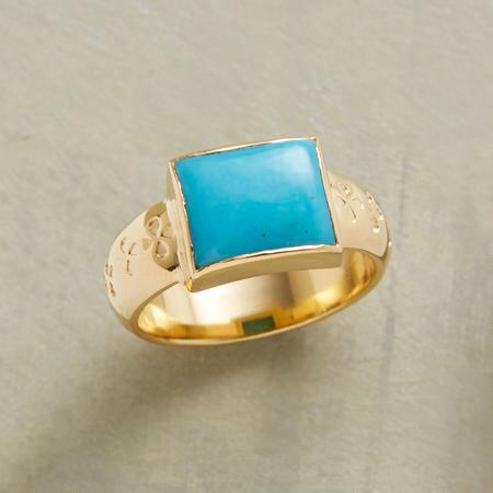 CURVES TURQUOISE RING