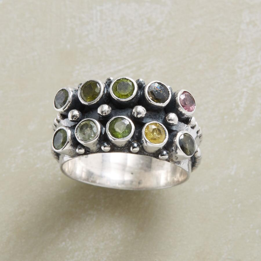 TWO ROW TOURMALINE RING